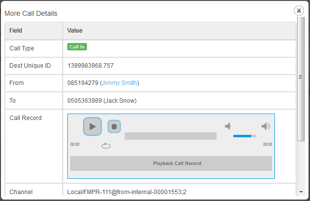 Asterisk VoIP Center For WHMCS: Screen 2