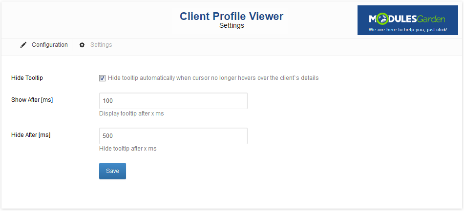 Client Profile Viewer For WHMCS: Screen 8