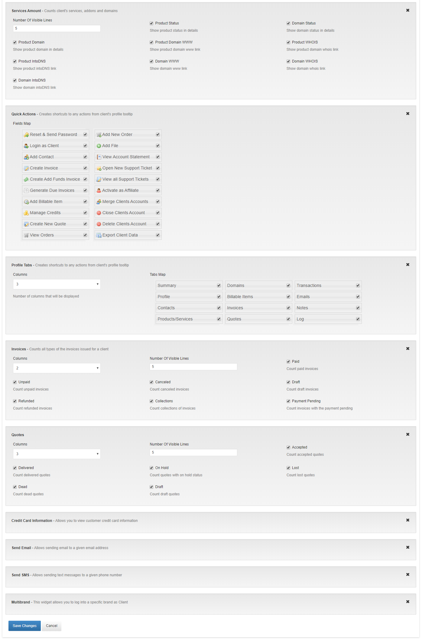 Client Profile Viewer For WHMCS: Module Screenshot 9