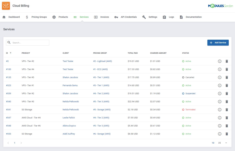Cloud Billing For WHMCS: Module Screenshot 7