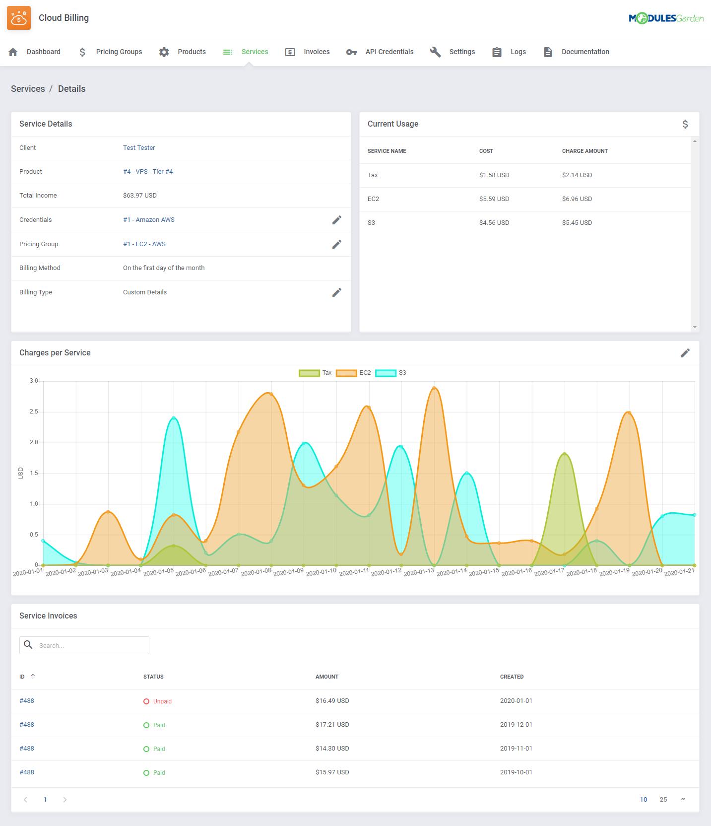 Cloud Billing For WHMCS: Module Screenshot 9
