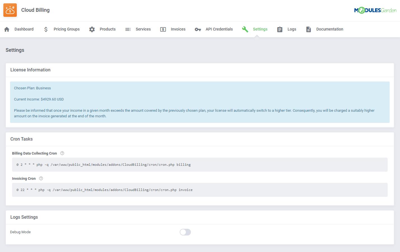 Cloud Billing For WHMCS: Module Screenshot 13