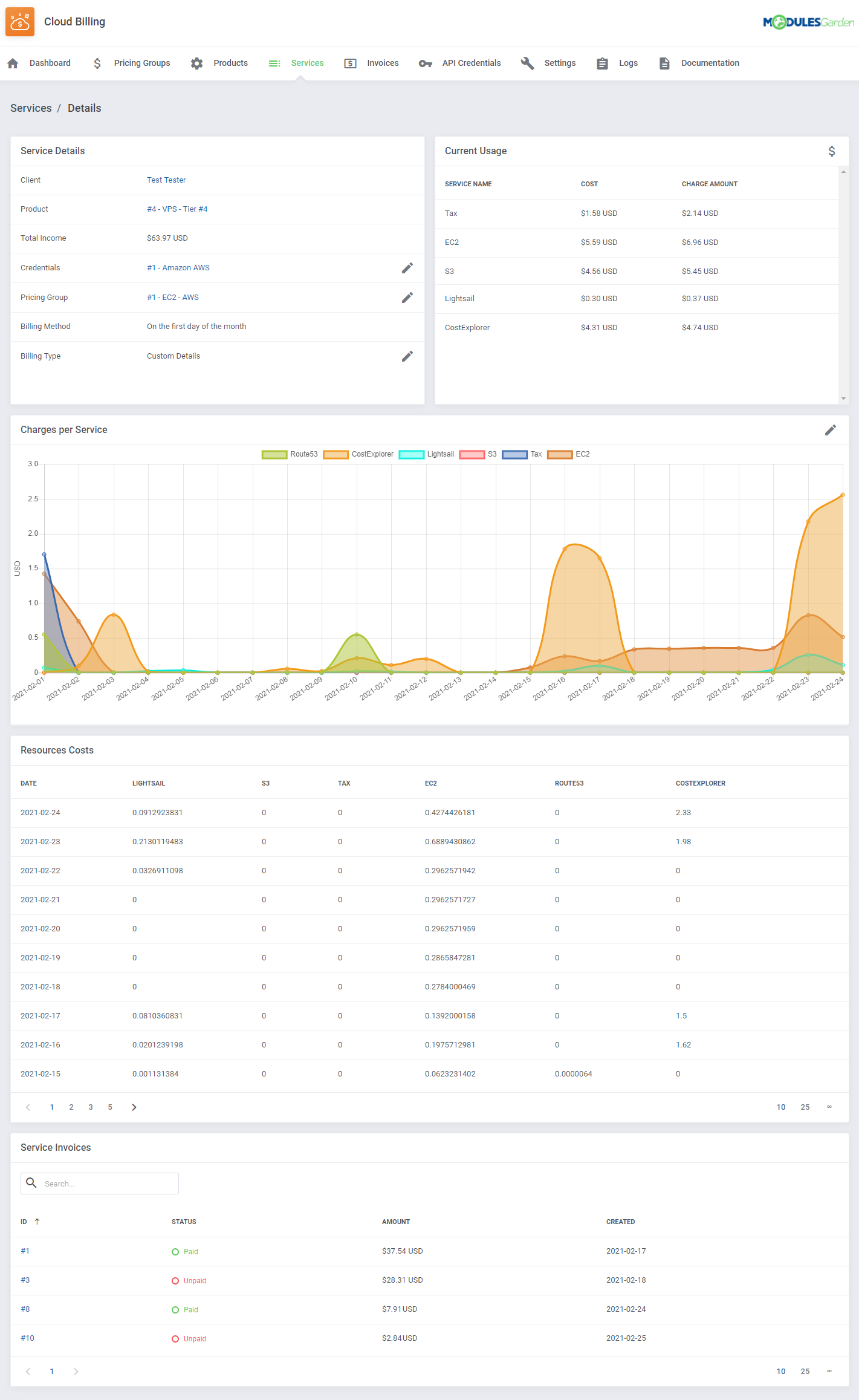 Cloud Billing For WHMCS: Module Screenshot 10