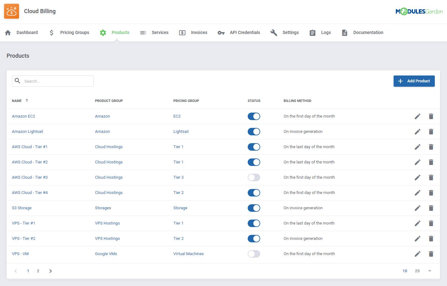 Cloud Billing For WHMCS: Module Screenshot 6