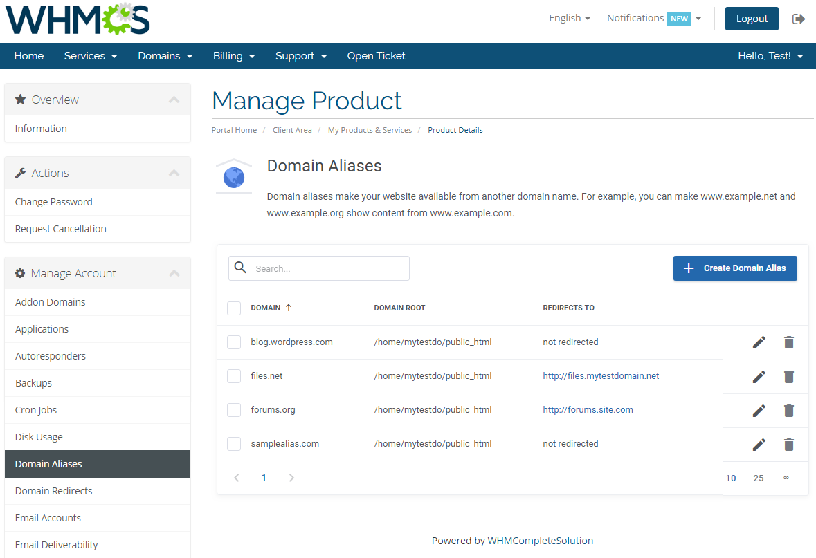 cPanel Extended For WHMCS: Module Screenshot 10