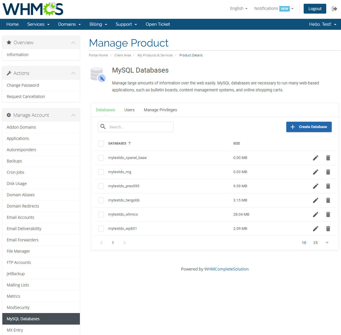 cPanel Extended For WHMCS: Module Screenshot 21