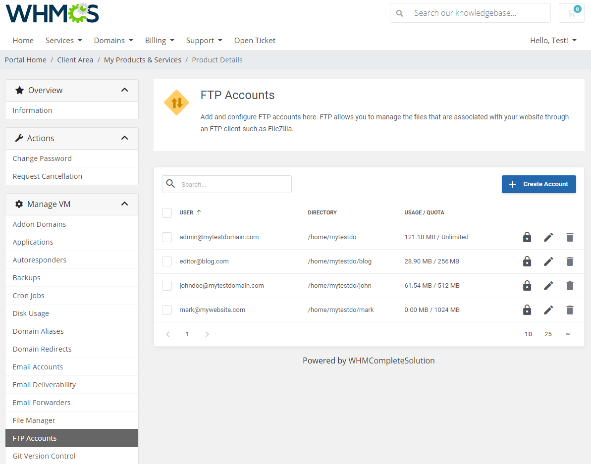 cPanel Extended For WHMCS: Module Screenshot 16