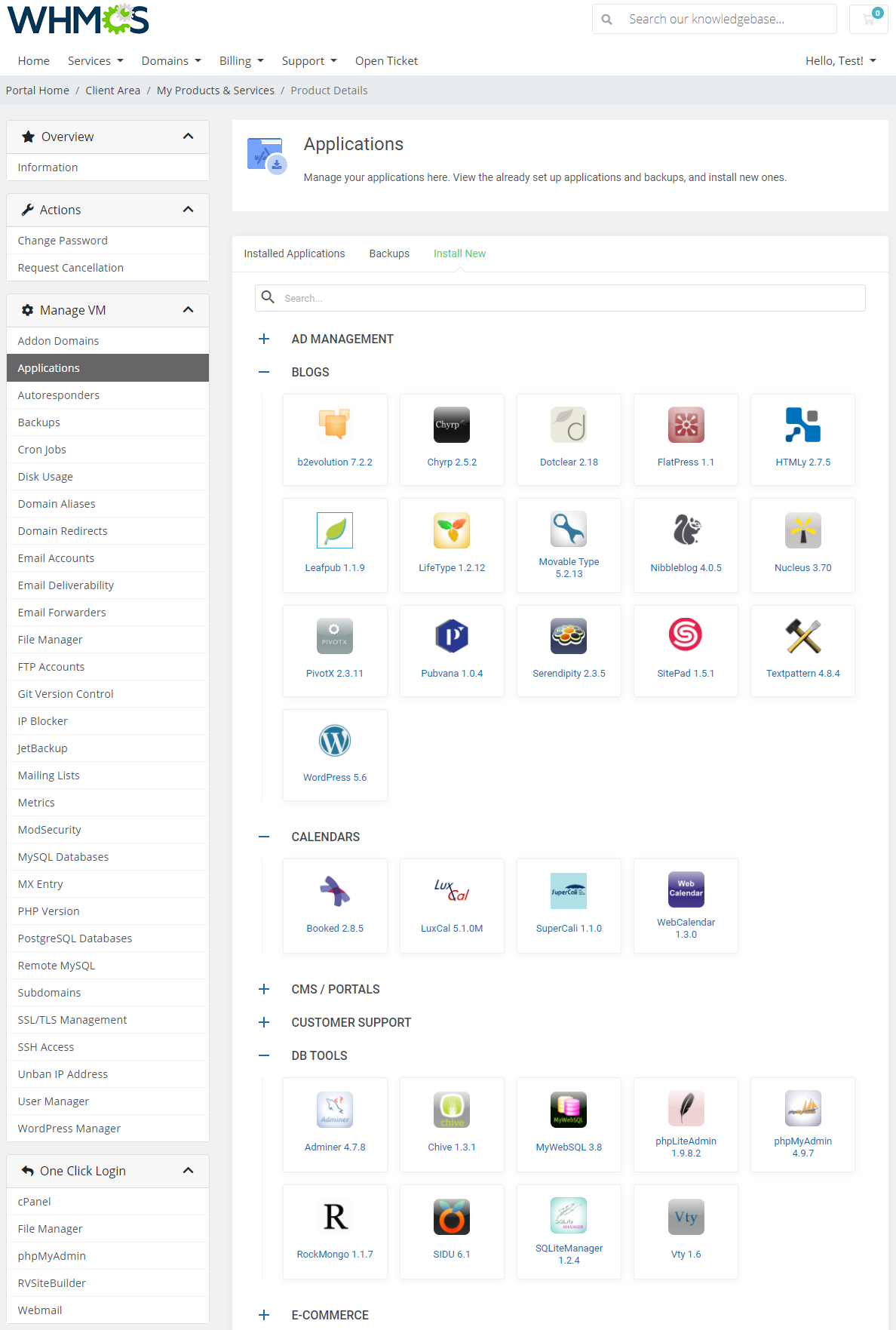 cPanel Extended For WHMCS: Module Screenshot 5