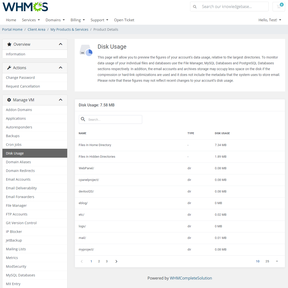cPanel Extended For WHMCS: Module Screenshot 9