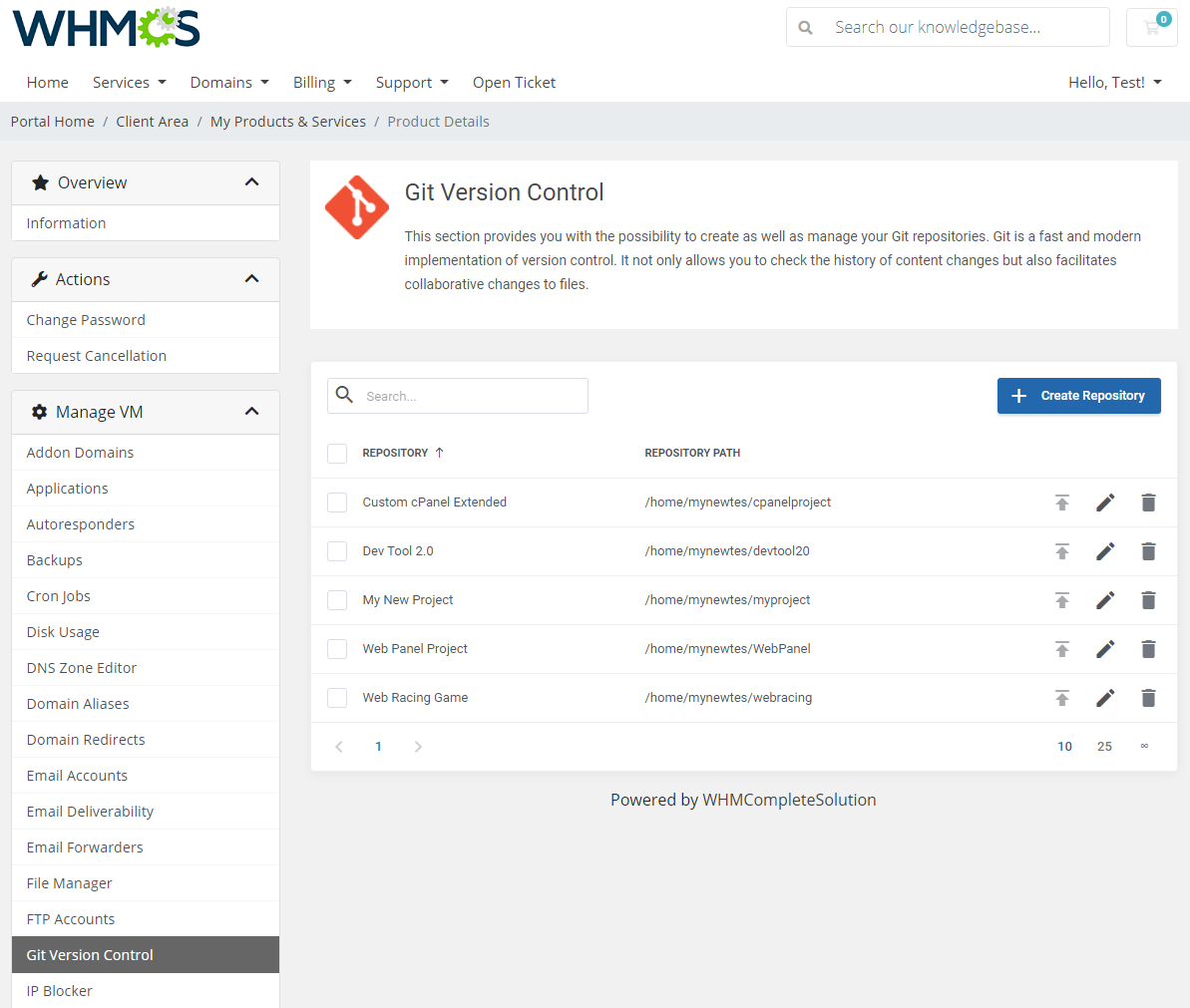 cPanel Extended For WHMCS: Module Screenshot 19
