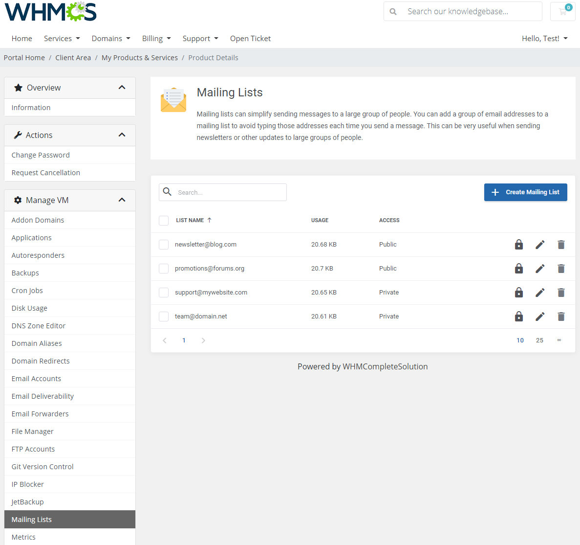 cPanel Extended For WHMCS: Module Screenshot 22