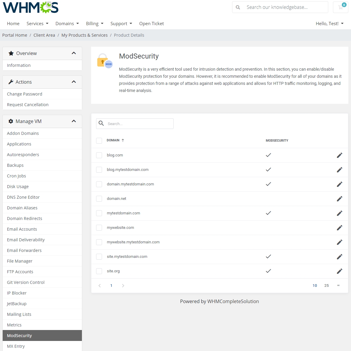 cPanel Extended For WHMCS: Module Screenshot 24