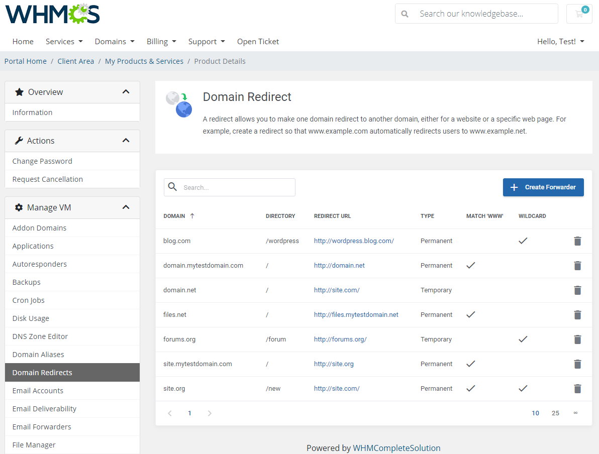 cPanel Extended For WHMCS: Module Screenshot 13