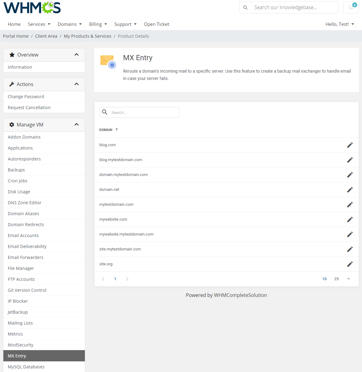 cPanel Extended For WHMCS: Module Screenshot 25
