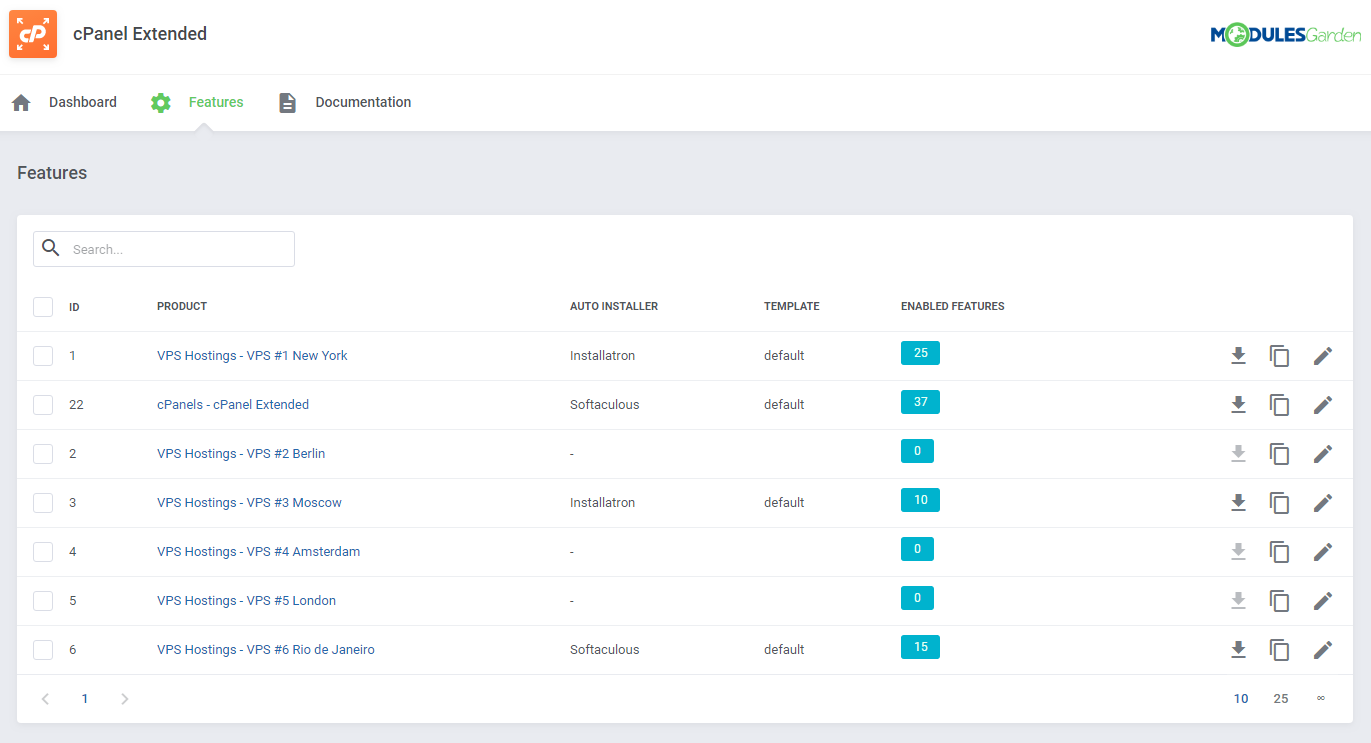 cPanel Extended For WHMCS: Module Screenshot 42