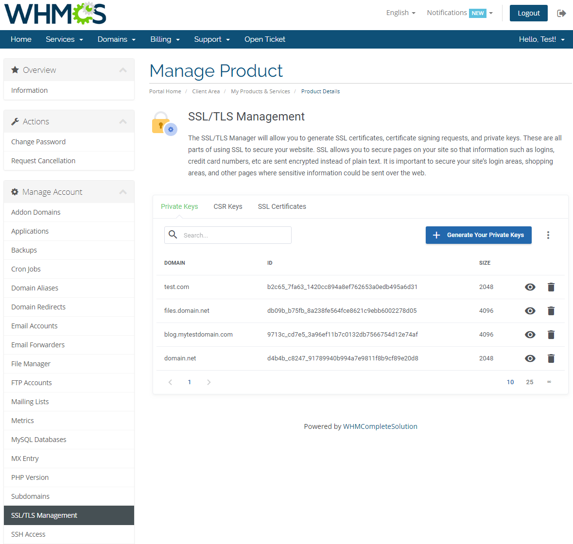 cPanel Extended For WHMCS: Screen 19