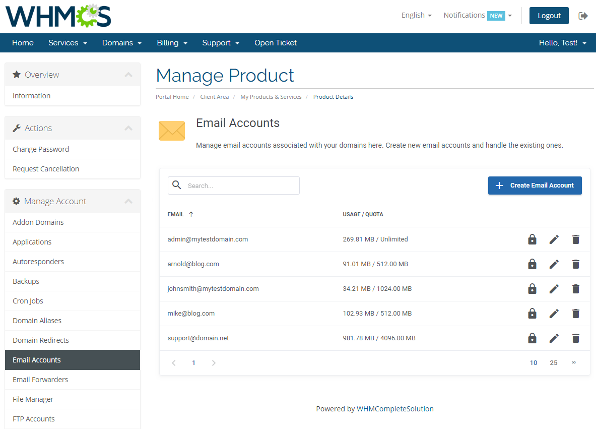 cPanel Extended For WHMCS: Module Screenshot 11
