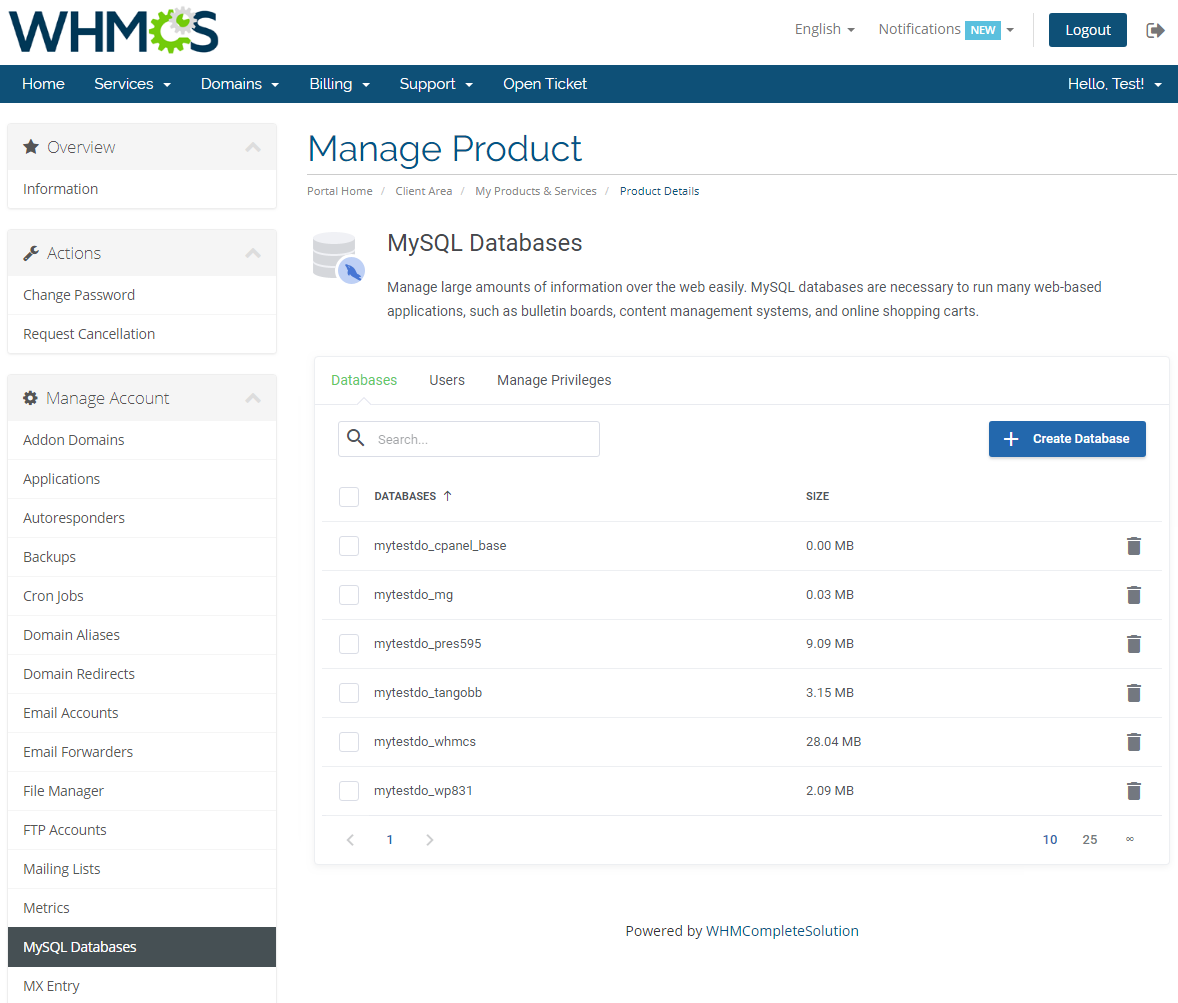 cPanel Extended For WHMCS: Module Screenshot 17