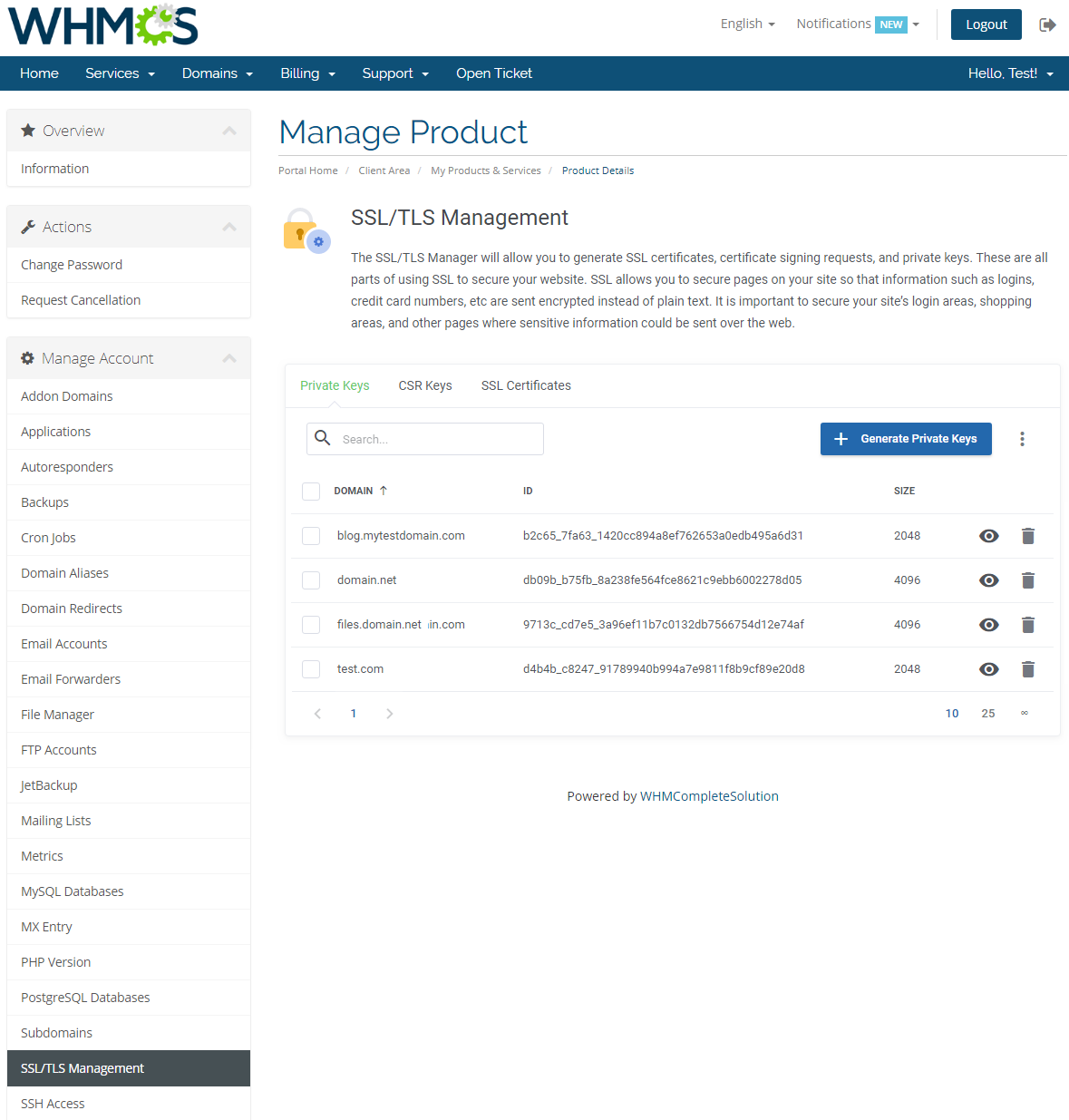cPanel Extended For WHMCS: Module Screenshot 23