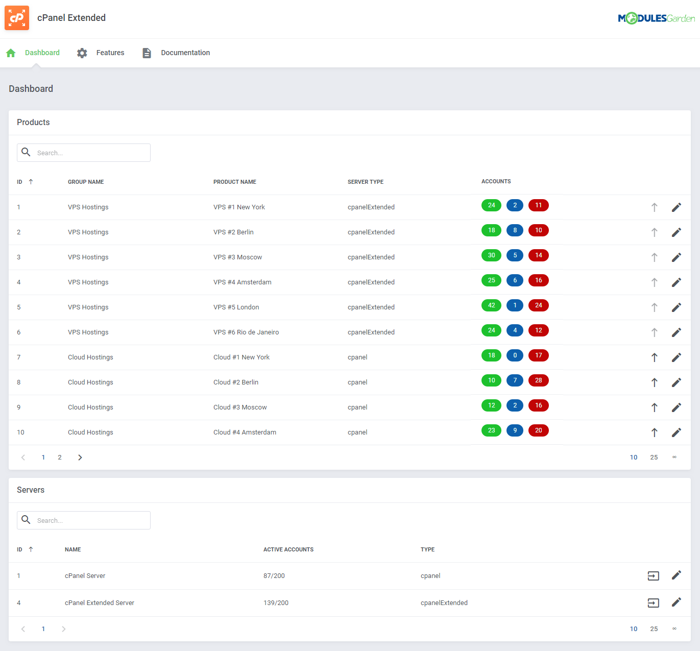 cPanel Extended For WHMCS: Module Screenshot 30