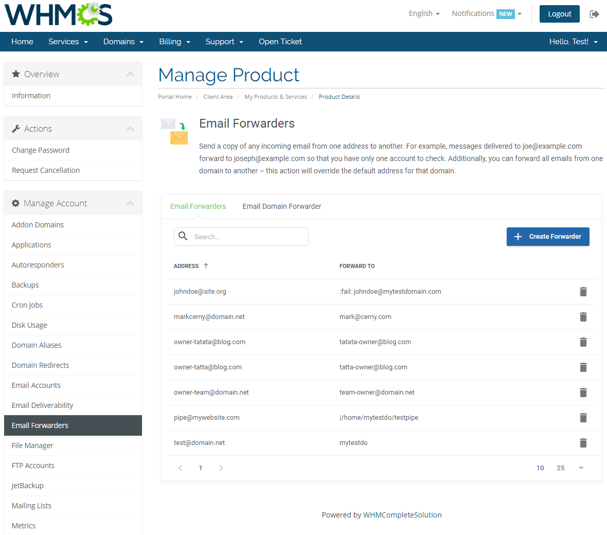 cPanel Extended For WHMCS: Module Screenshot 14