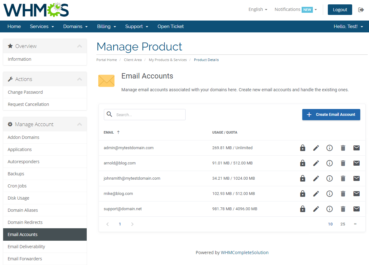 cPanel Extended For WHMCS: Module Screenshot 12