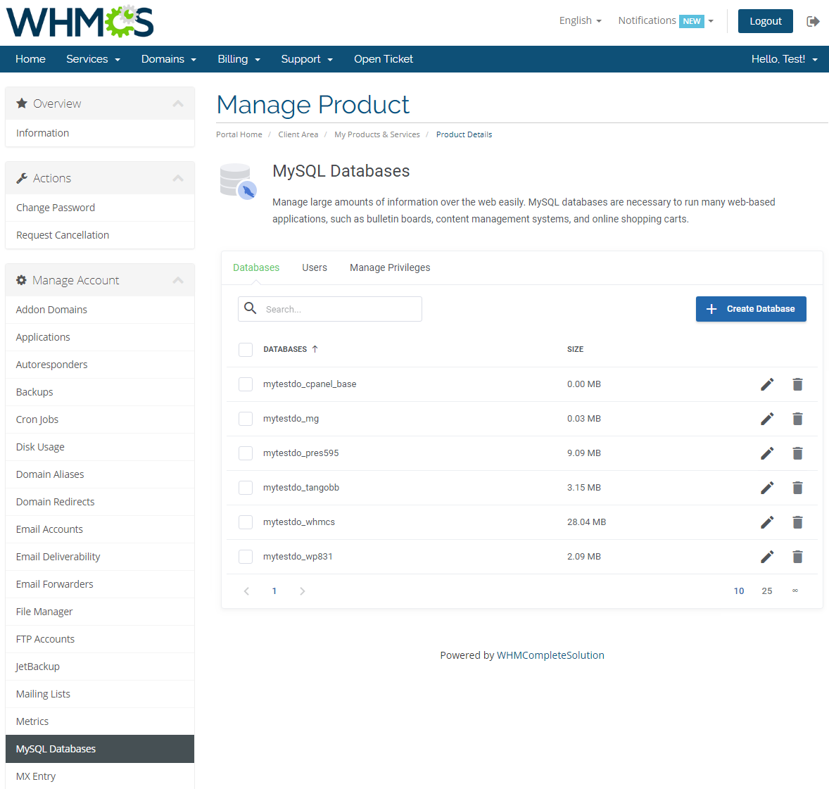 cPanel Extended For WHMCS: Module Screenshot 20