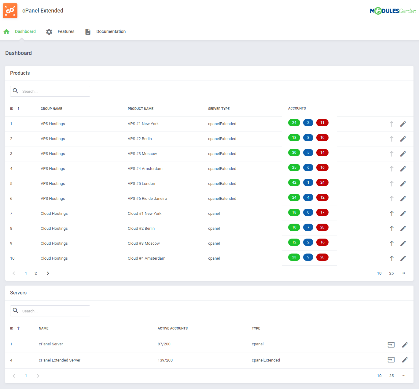 cPanel Extended For WHMCS: Module Screenshot 32