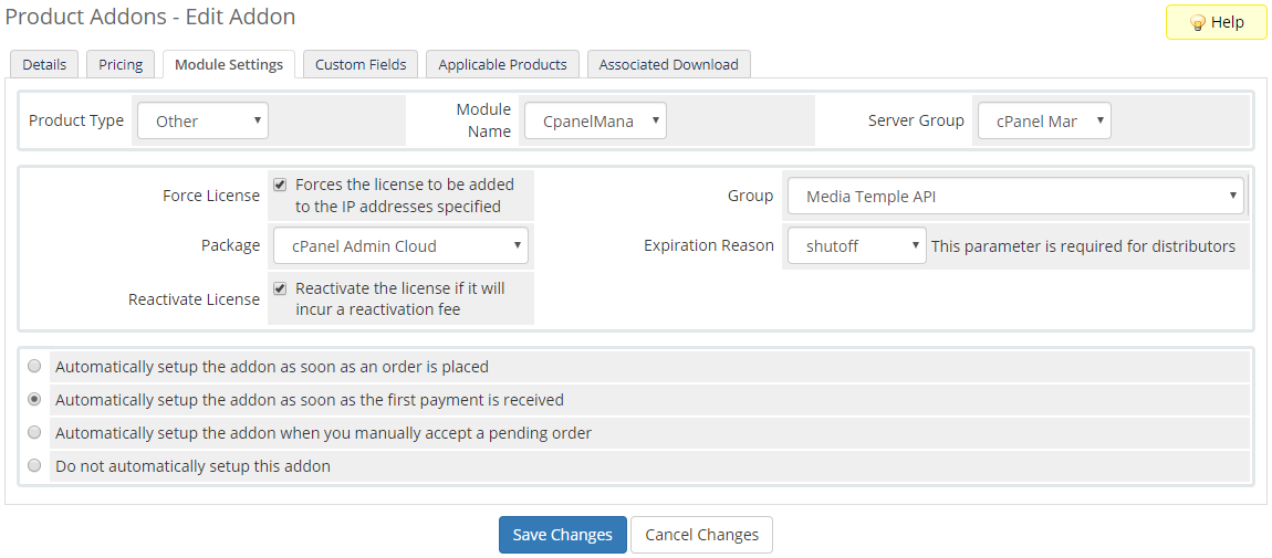 cPanel Manage2 For WHMCS: Module Screenshot 4
