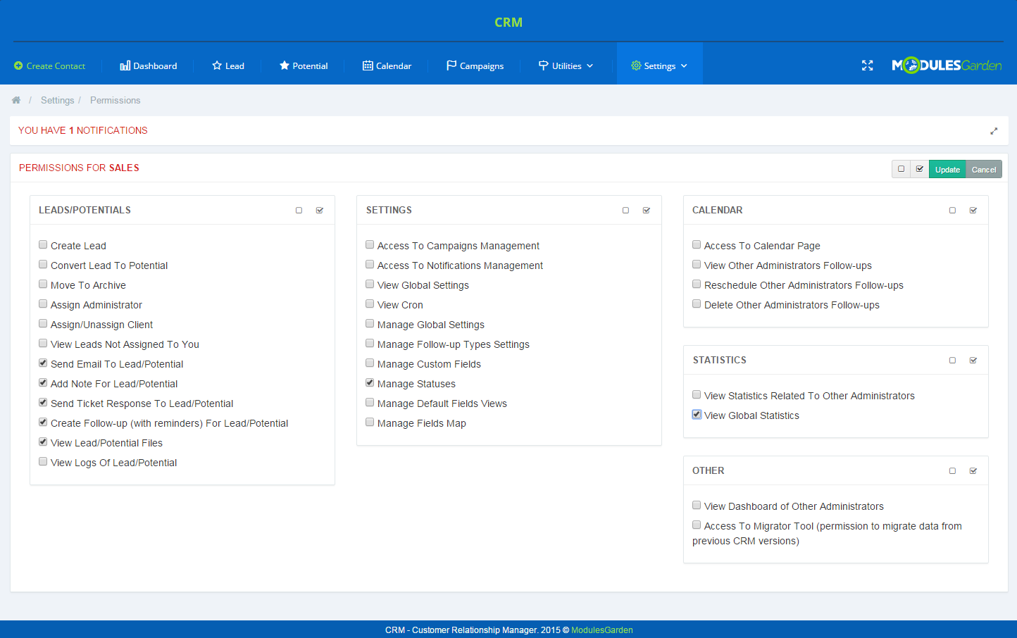 CRM For WHMCS: Screen 16
