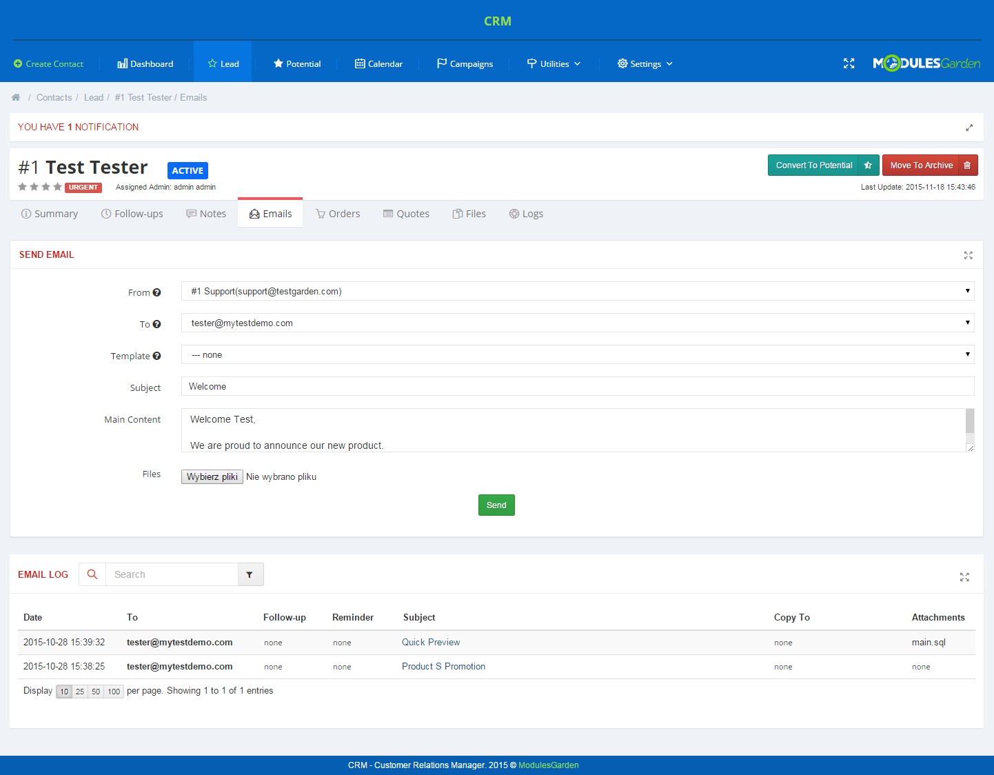 CRM For WHMCS: Screen 3
