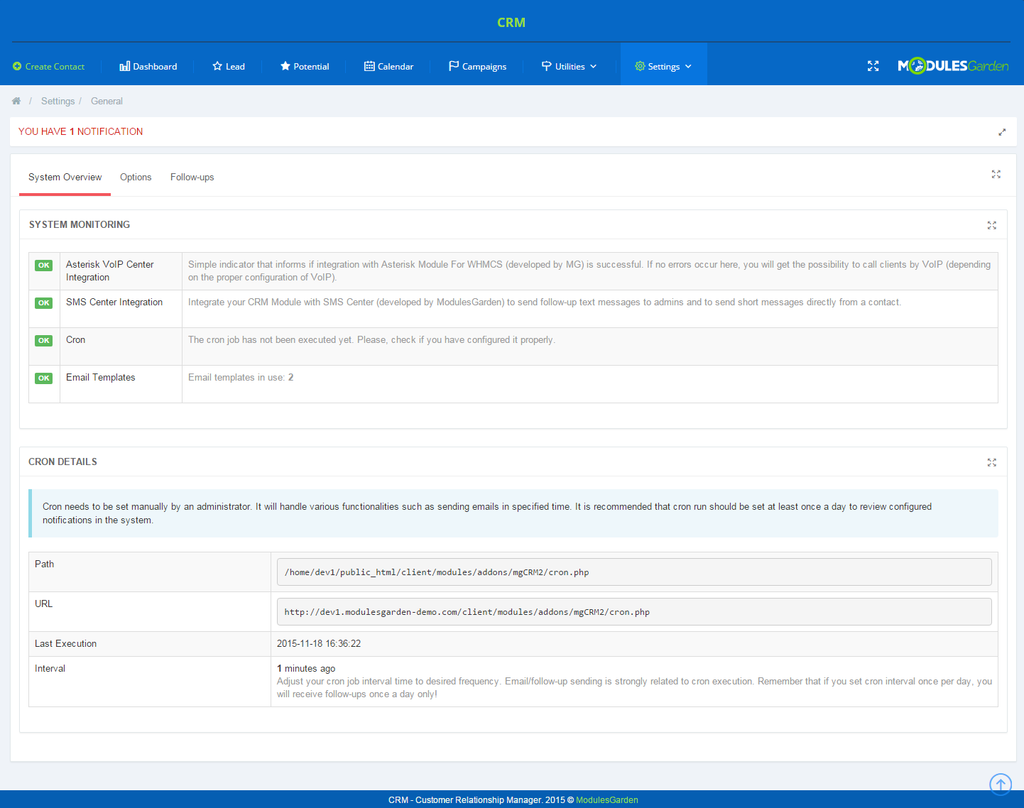 CRM For WHMCS: Screen 11