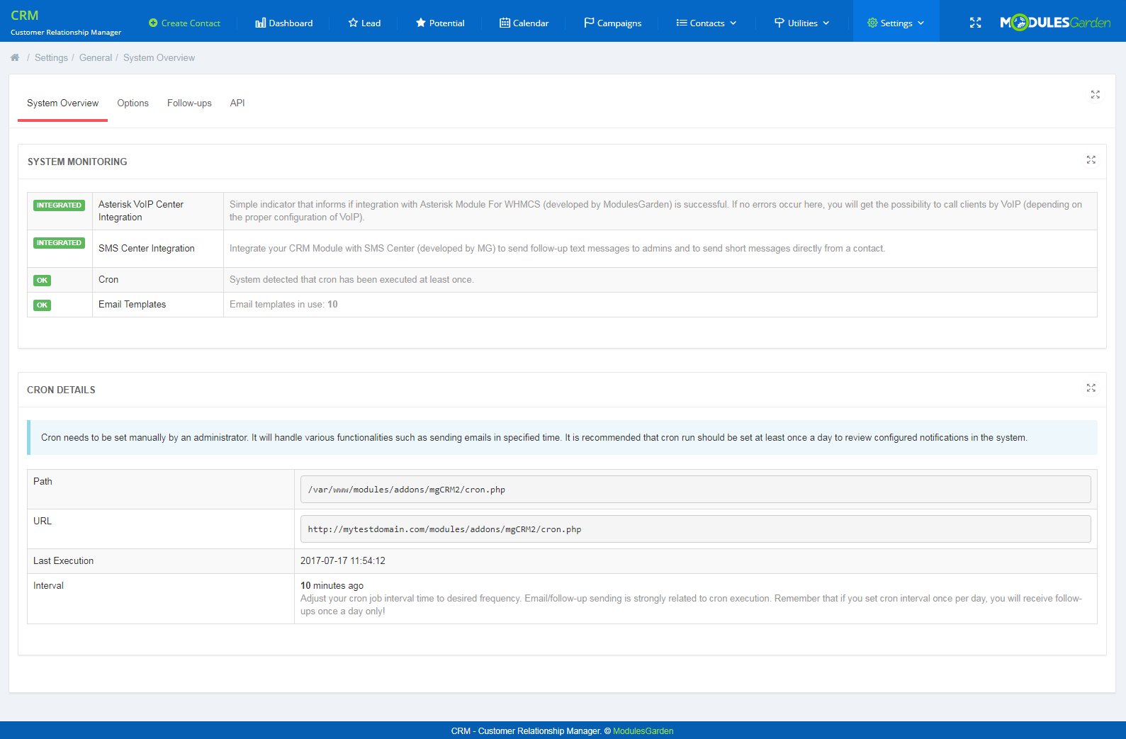 CRM For WHMCS: Screen 13