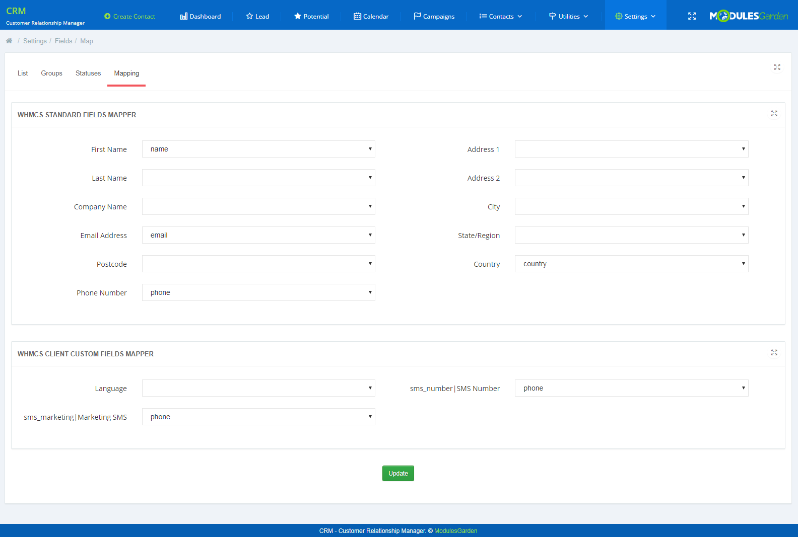 CRM For WHMCS: Screen 18