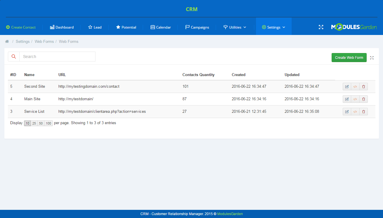 CRM For WHMCS: Screen 22