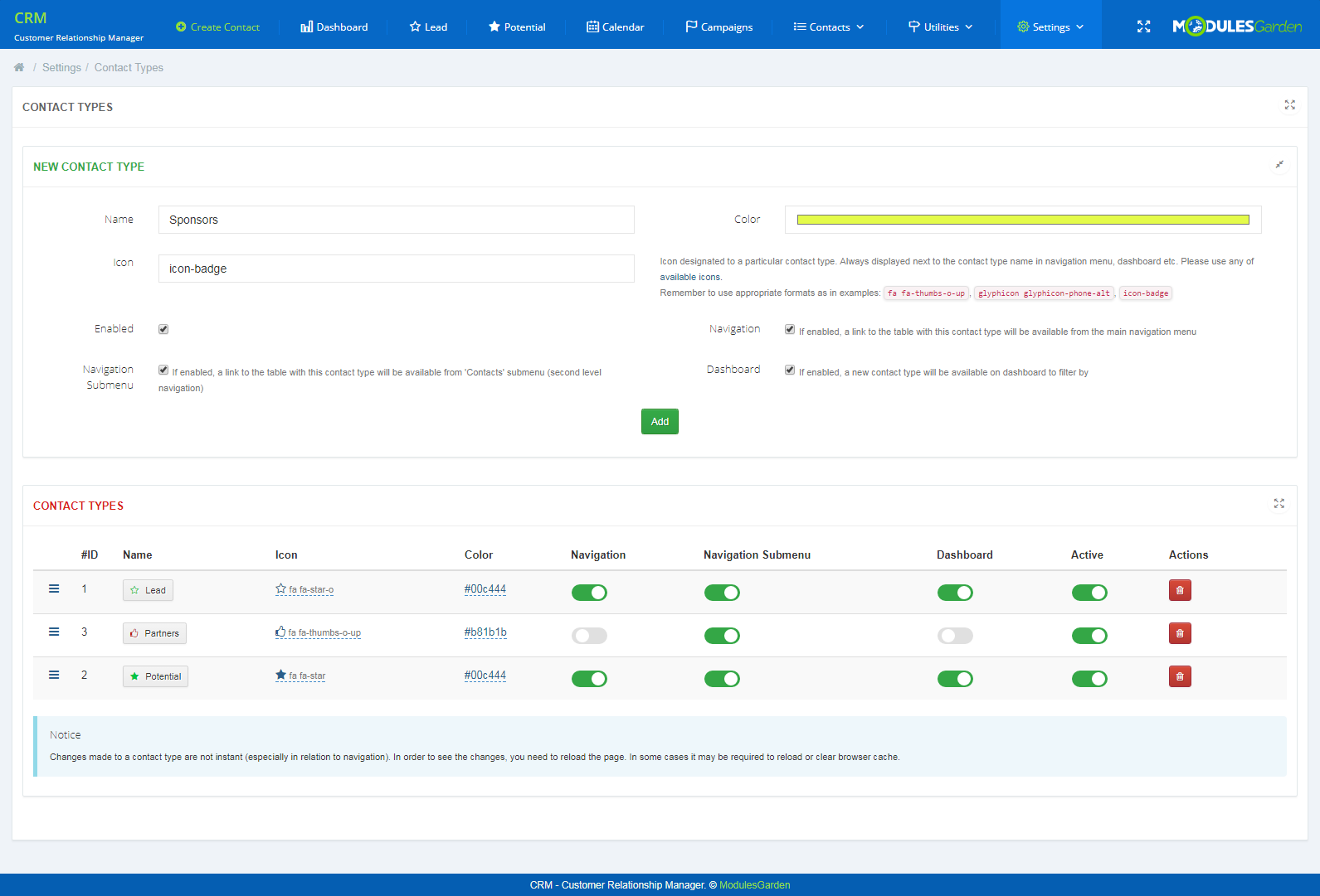 CRM For WHMCS: Screen 19