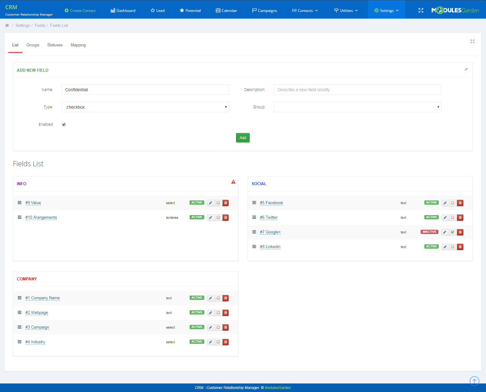CRM For WHMCS: Screen 17