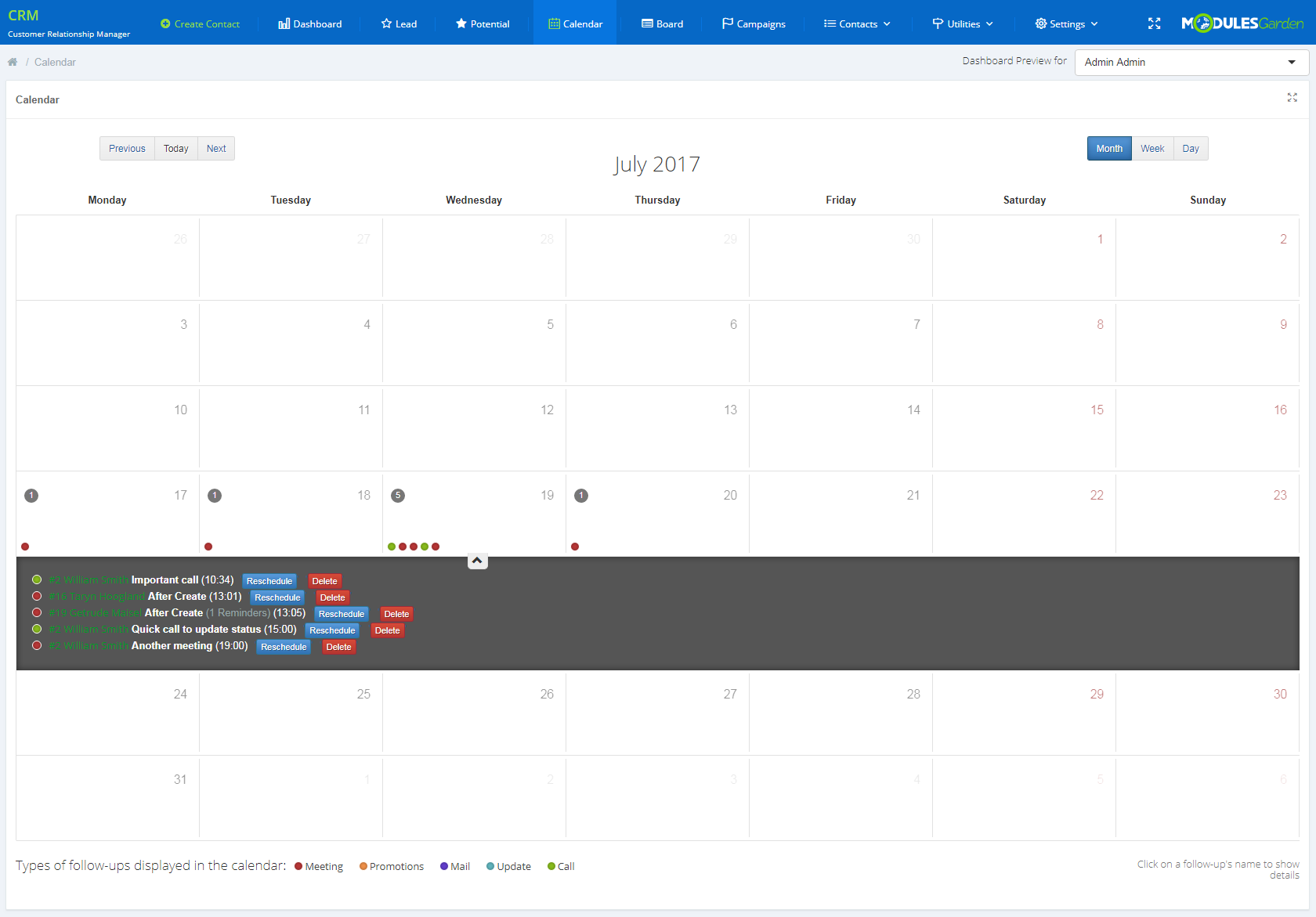CRM For WHMCS: Screen 7