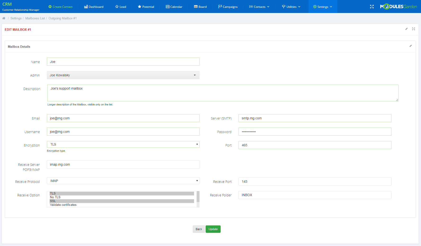 CRM For WHMCS: Screen 20