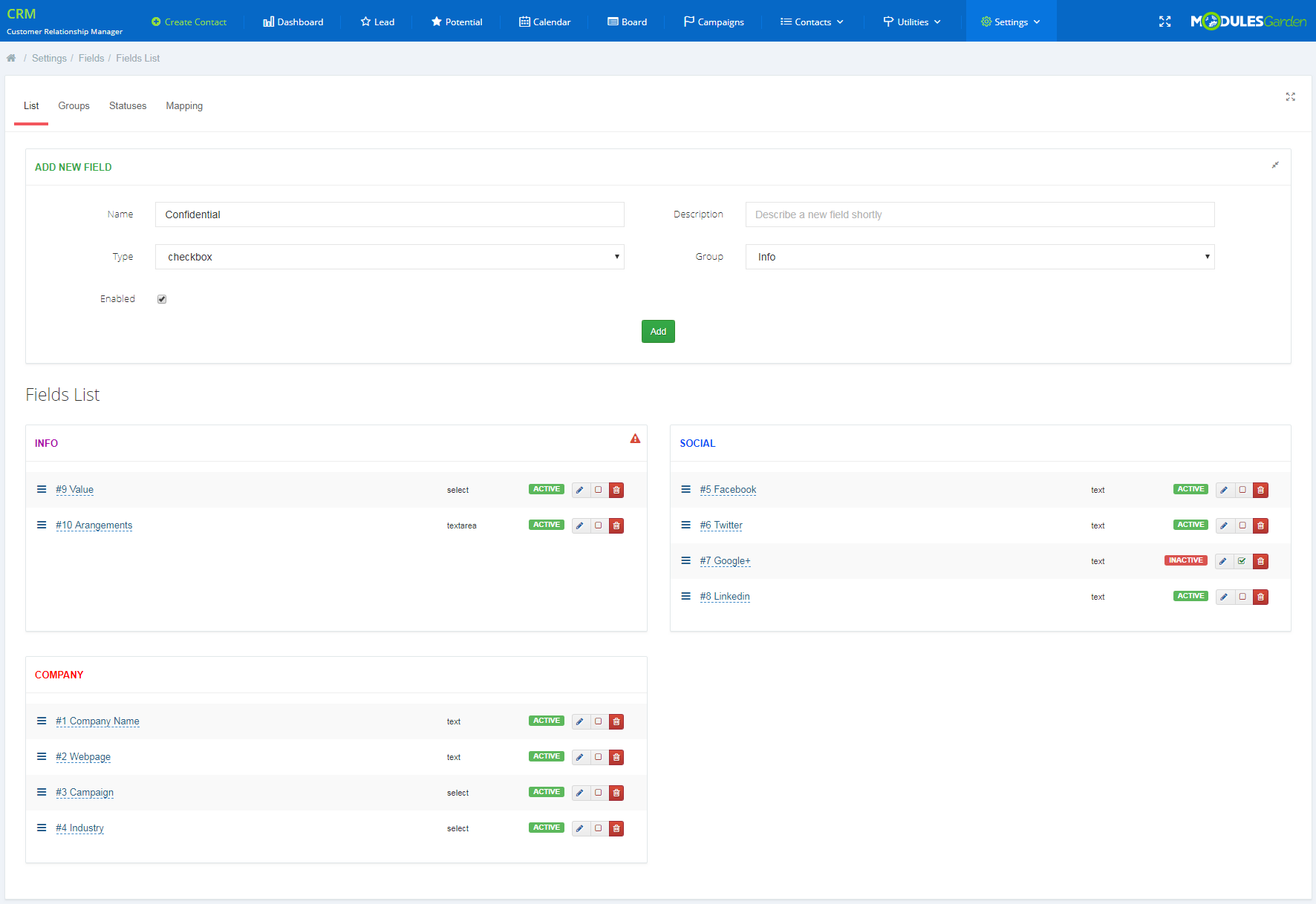 CRM For WHMCS: Screen 21