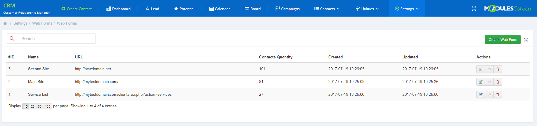 CRM For WHMCS: Screen 27