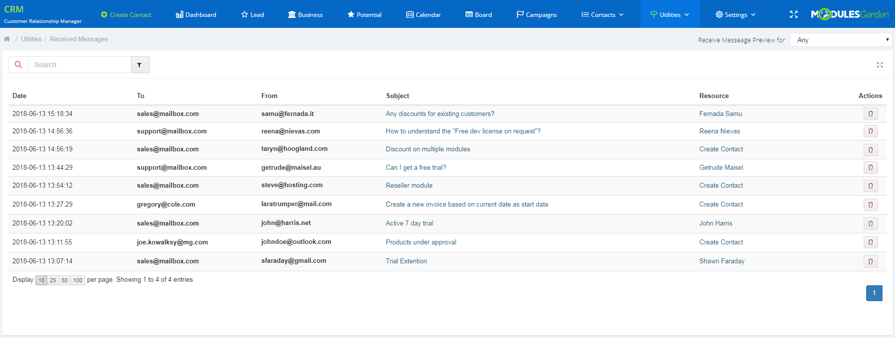 CRM For WHMCS: Module Screenshot 14