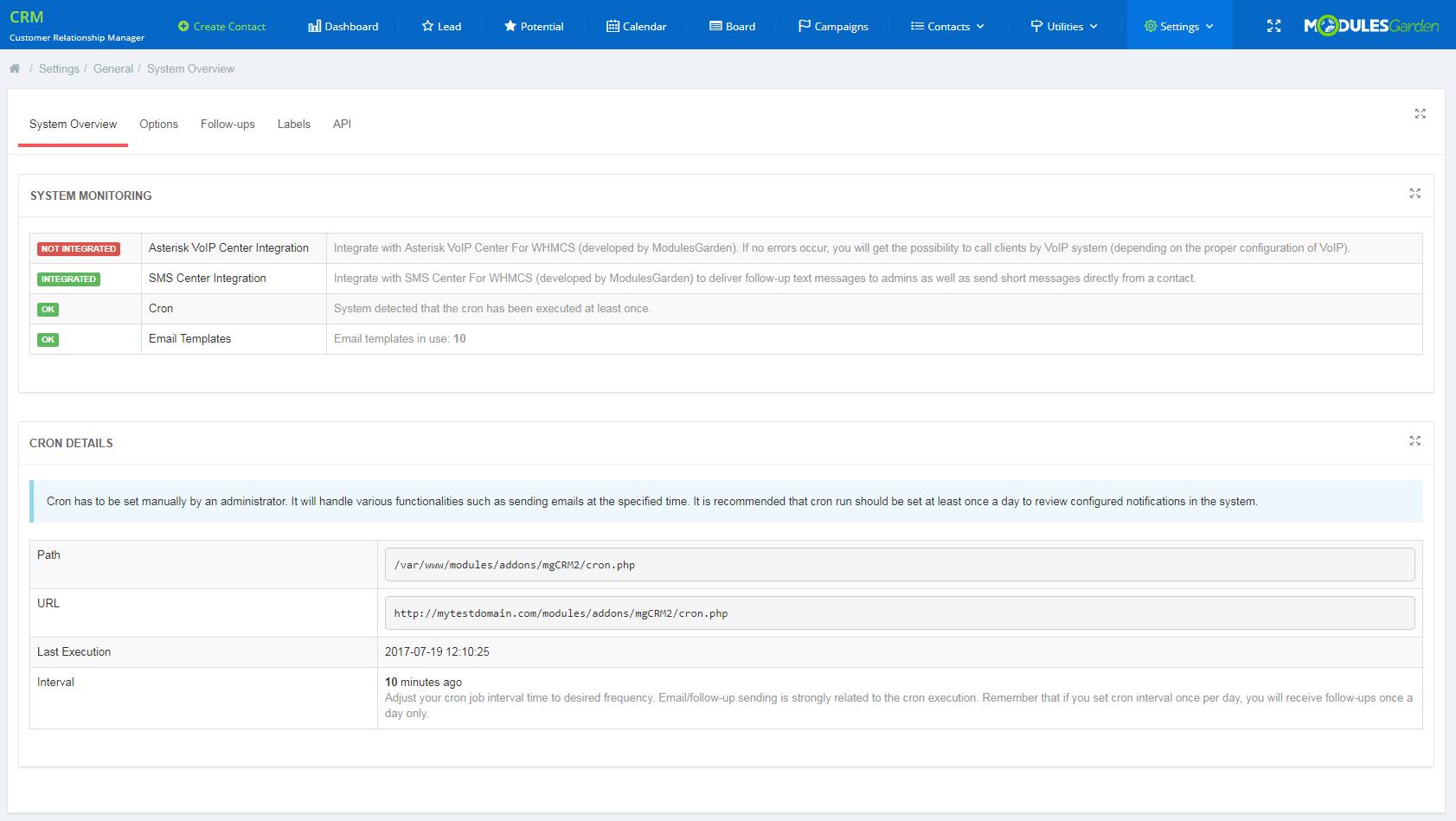 CRM For WHMCS: Module Screenshot 15