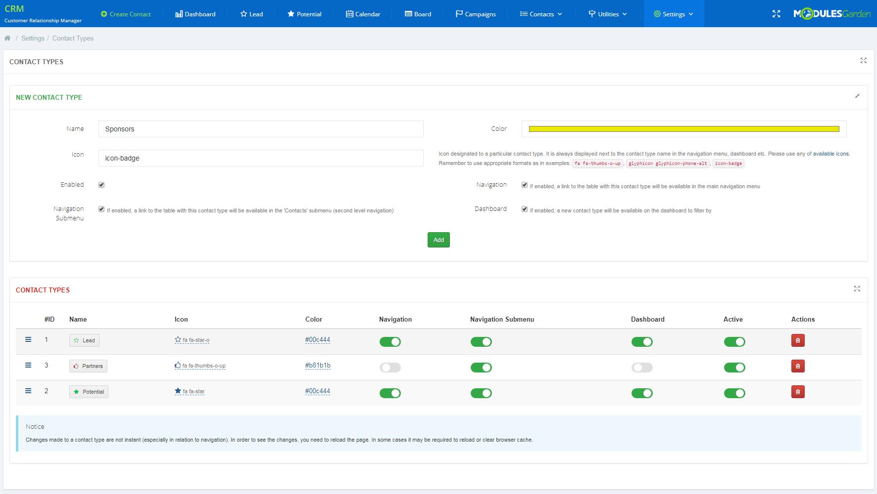 CRM For WHMCS: Module Screenshot 24