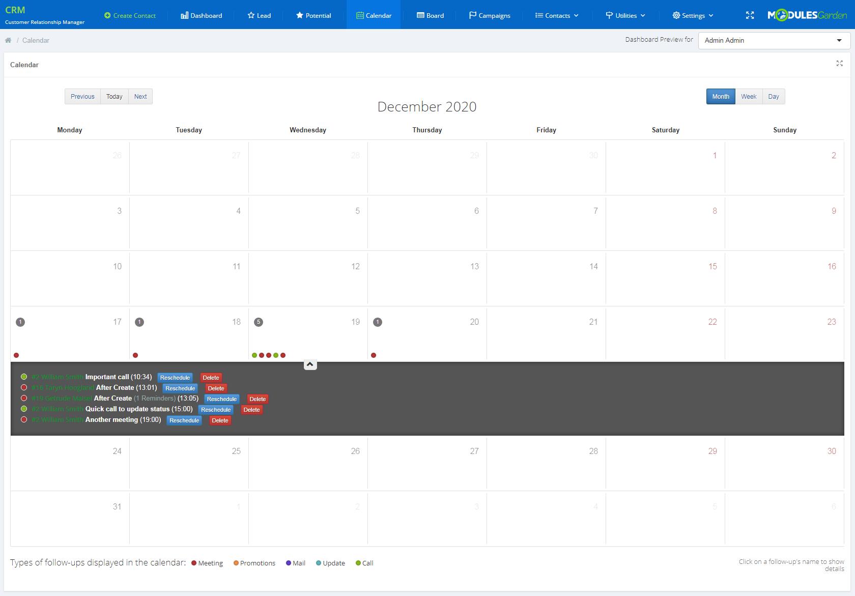 CRM For WHMCS: Module Screenshot 7