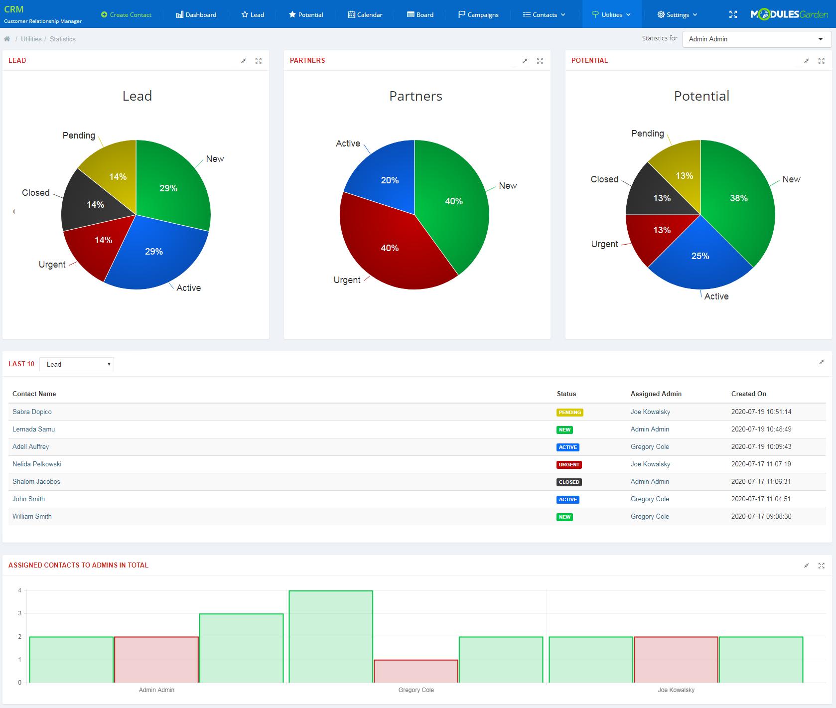 CRM For WHMCS: Module Screenshot 11