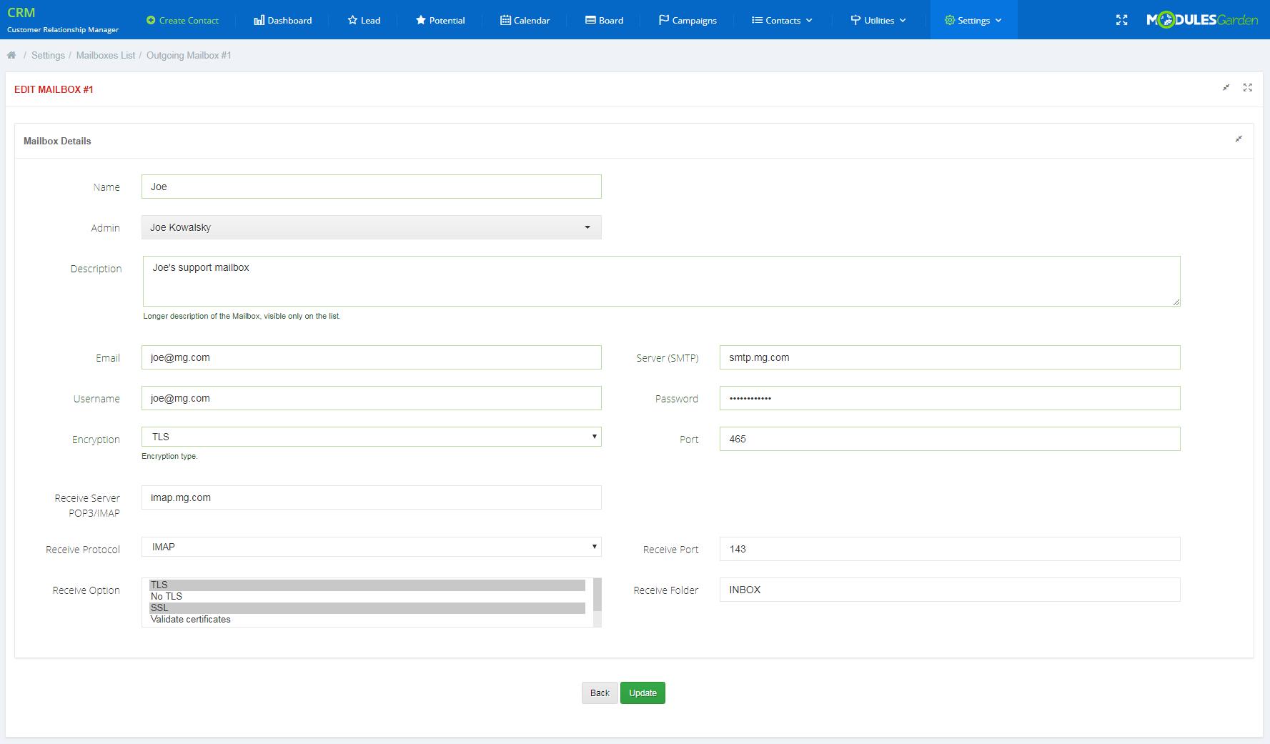 CRM For WHMCS: Module Screenshot 20