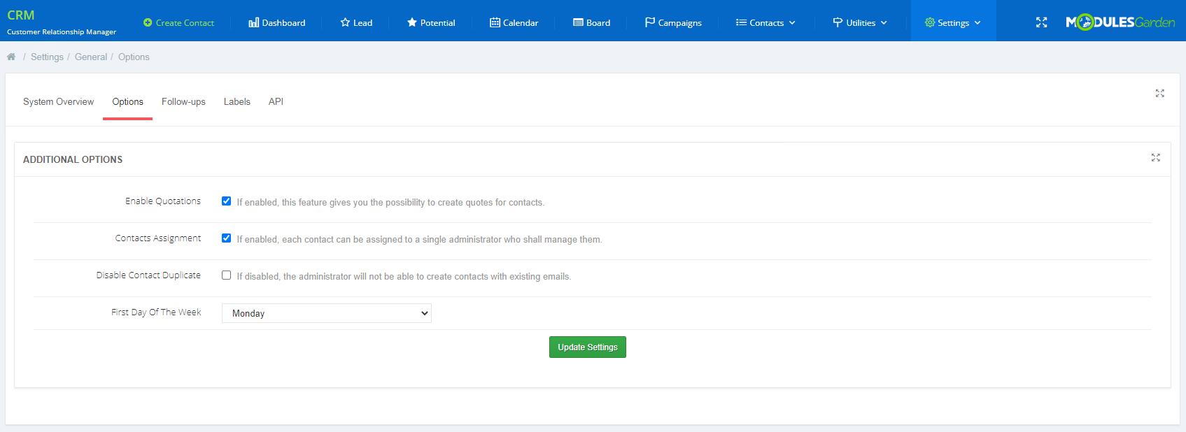 CRM For WHMCS: Module Screenshot 16
