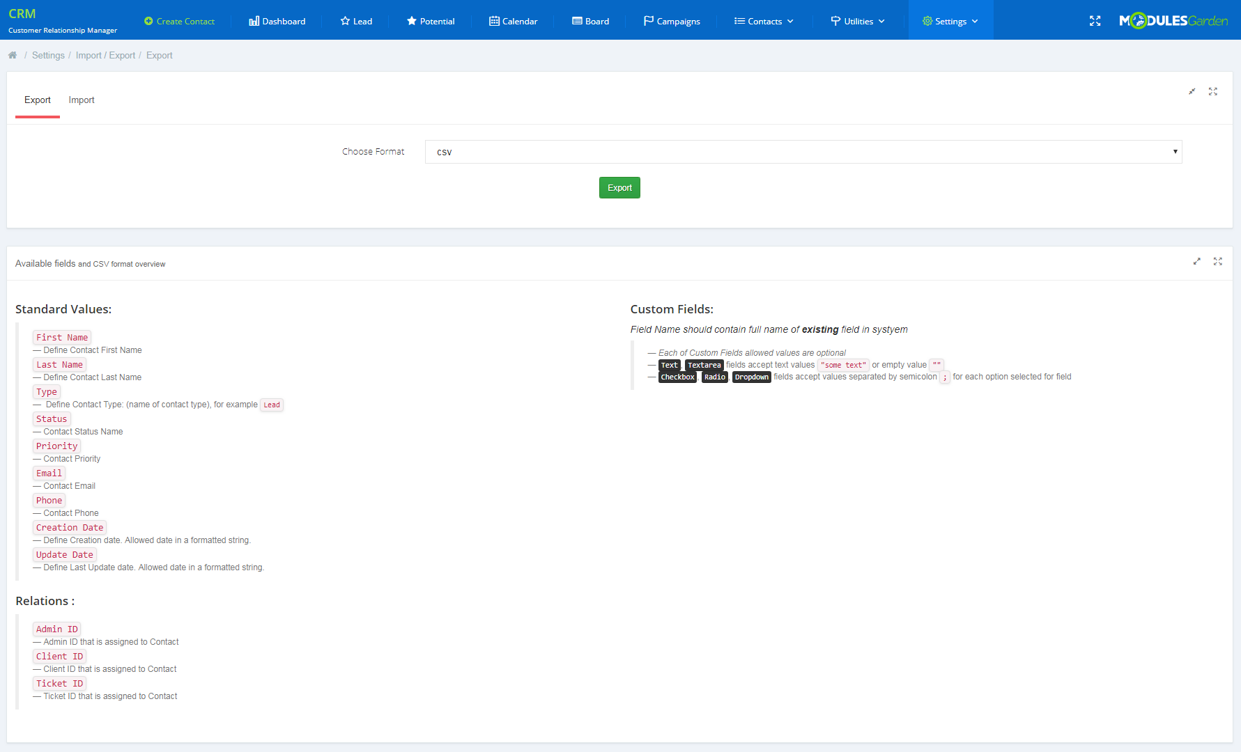 CRM For WHMCS: Module Screenshot 26