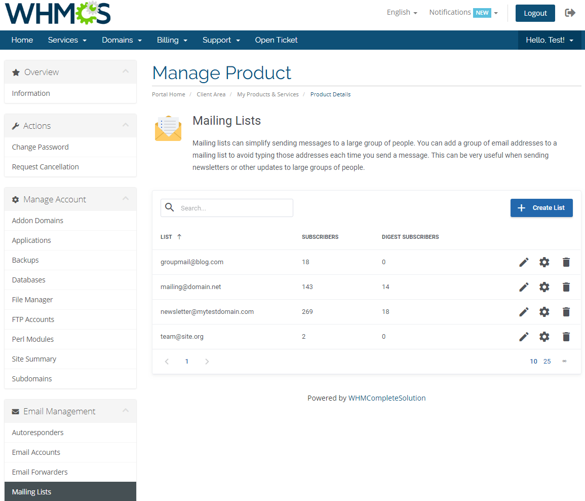 DirectAdmin Extended For WHMCS: Screen 18
